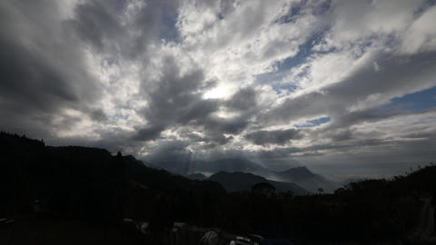 Mountain and clouds sun light time lapse JB010 ライブ動画