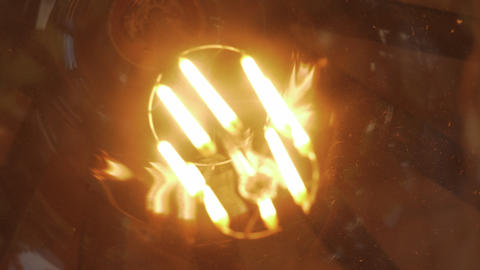 Glass globe lamp glowing 영상물