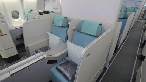 Seats in business class cabin Live Action