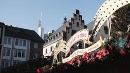 Frankfurt Christmas Market Stall Signage Footage