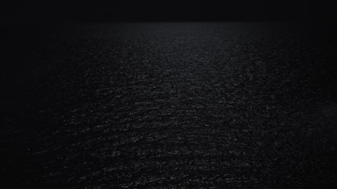 Quiet sea at dark night Footage