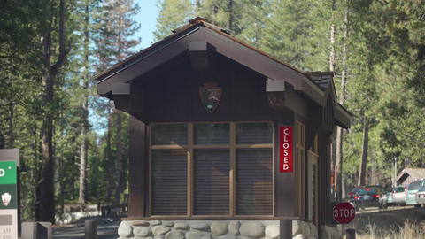 Closed National Park Entry Booth Footage