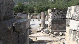 Turkey Ephesus Ephesos Efes view between the ancient stone walls 영상물