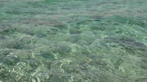 Rurquoise water surface on sea or ocean Archivo