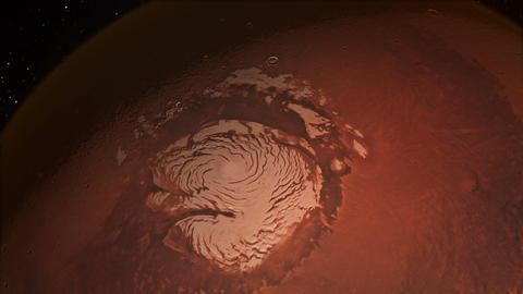 Water on Mars From Space on the North Polar Ice Cap 영상물