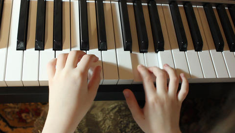 fingers palms playing the piano Footage