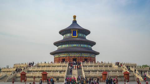 Beijing Temple of Heaven time lapse in Beijing city, China Live Action