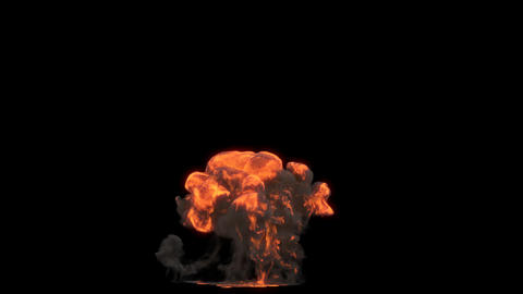 Gasoline explosion 3 Animation