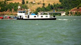 Boat On Danube stock footage