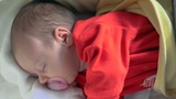 Infant - Baby Girl Sleeping stock footage