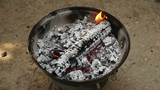 BBQ FIRE stock footage