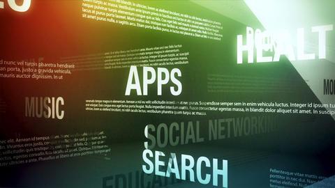 Mobile App Categories Seamless Loop Stock Video Footage