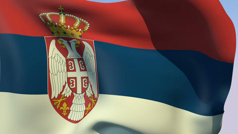 Flag of Serbia Stock Video Footage