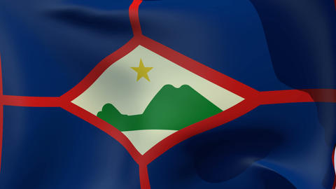 Flag of Sint Eustatius Stock Video Footage