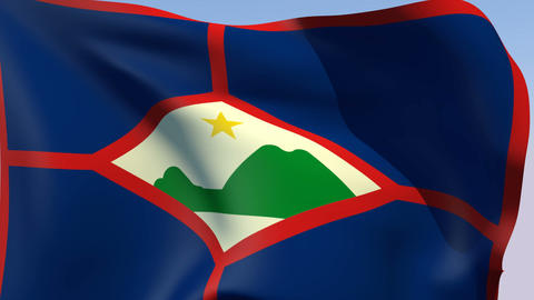 Flag of Sint Eustatius Animation