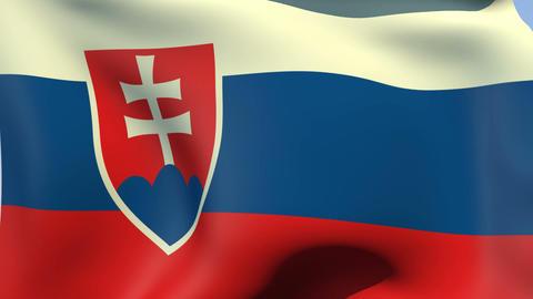 Flag of Slovakia Animation