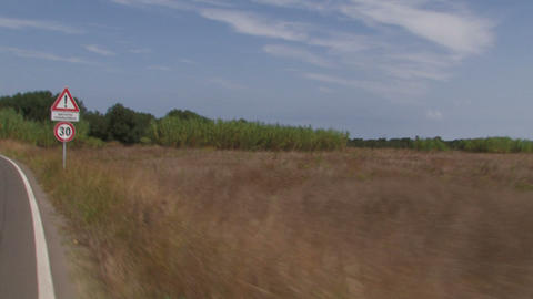 Camera car on a country road Stock Video Footage