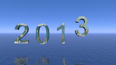 Happy 2013 stock footage
