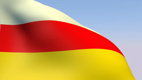 Flag of South Ossetia Stock Video Footage