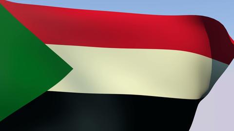 Flag of Sudan Stock Video Footage