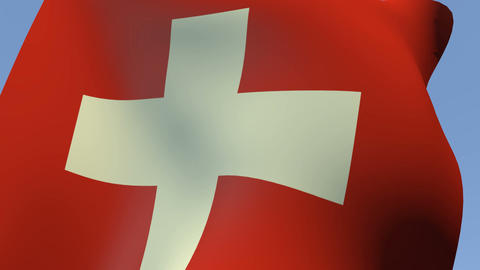 Flag of Switzerland Stock Video Footage