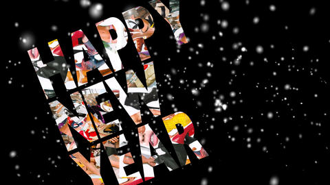 00246  New   Year  Card stock footage