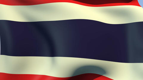Flag of Thailand Stock Video Footage