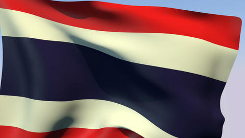 Flag Of Thailand stock footage