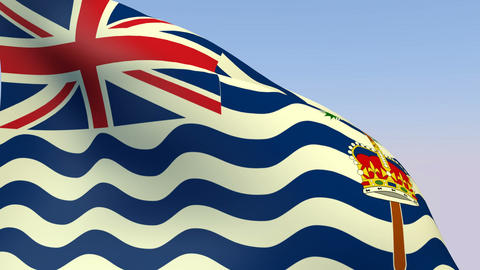 Flag of the British Indian Ocean Territory Stock Video Footage
