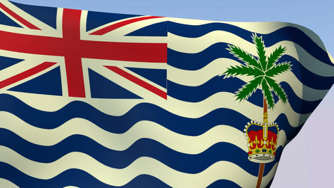 Flag Of The British Indian Ocean Territory stock footage