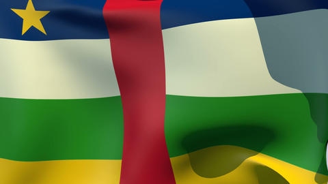 Flag of the Central African Republic Animation