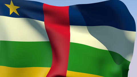 Flag of the Central African Republic Stock Video Footage