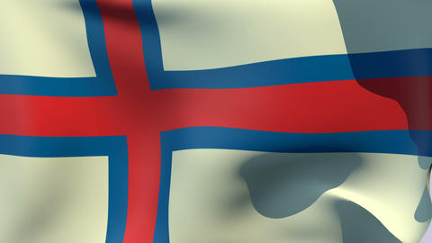 Flag of the Faroe Islands Stock Video Footage