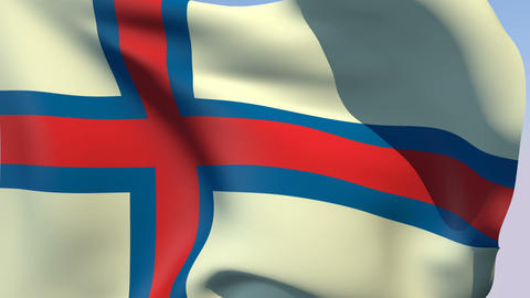 Flag of the Faroe Islands Animation