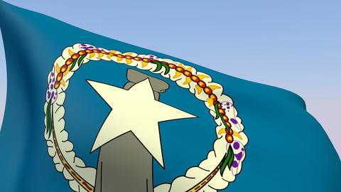 Flag of the Northern Mariana Islands Stock Video Footage