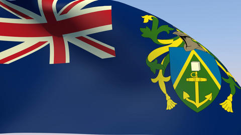 Flag of the Pitcairn Islands Animation
