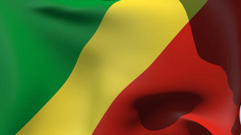 Flag of the Republic of the Congo Stock Video Footage
