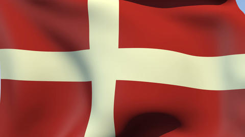Flag of the Sovereign Military Order of Malta Stock Video Footage