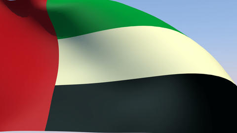 Flag of the United Arab Emirates Animation