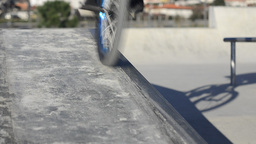 Bmx rider grinding Footage