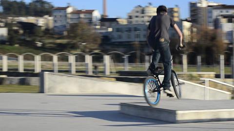 Bmx rider in action Footage