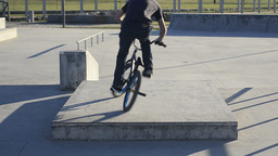 Bmx rider in action Stock Video Footage