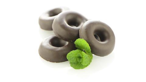 Chocolate donut cookies Stock Video Footage