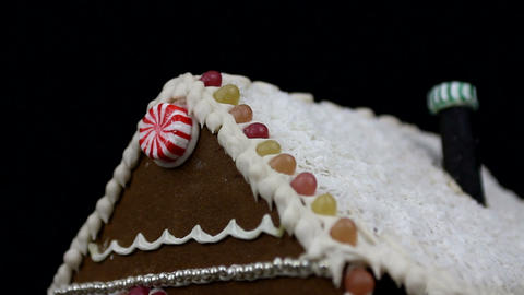 Home made gingerbread house Stock Video Footage