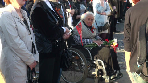 grandmother in the wheelchair Stock Video Footage