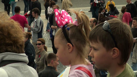 Girl with big bow Stock Video Footage