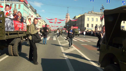 Festive parade Stock Video Footage