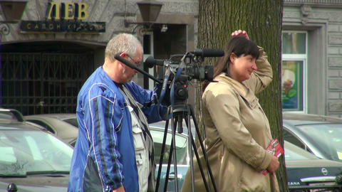 Film crew Stock Video Footage