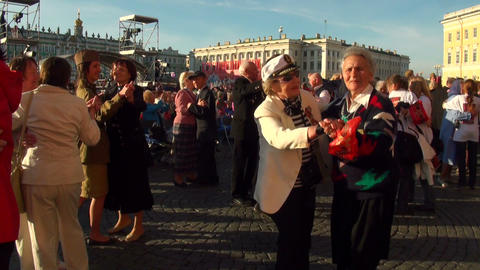 Dances on a holiday Stock Video Footage