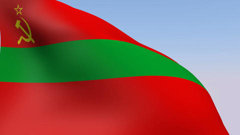 Flag of Transnistria State Stock Video Footage